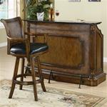 MC100BU173-CO WARM BROWN TRADITIONAL BAR UNIT WITH MARBLE TOP