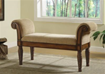 MCLR100BE224-CO  BEIGE UPHOLSTERED BENCH