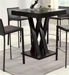 MC100BT520-CO BLACK CRISSCROSS BAR TABLE WITH SQUARE TABLE TOP