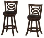"MC101BS929-CO CAPPUCCINO 24""H SWIVEL BAR STOOL"