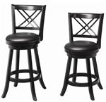 "MC101BS959-CO BLACK 24""H SWIVEL BAR STOOL"