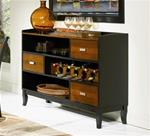 MC102BS095-CO BLACK/ CHERRY SERVER WITH 3 STORAGE DRAWERS