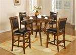 MC102DI178-CO 5PC DEEP BROWN CASUAL COUNTER HEIGHT DINETTE SET