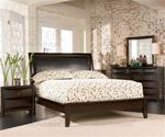 MCB200BR410KB-CO  KING DARK CAPPUCCINO PLATFORM BED SET