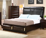 MCB200BR419K-CO  4 PC KING DEEP CAPPUCCINO CHEST BEDROOM SET