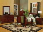 MCB200BR431TB-CO TWIN CHERRY SLEIGH BED SET