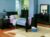 MCB201BR071TB-CO TWIN BLACK SLEIGH BED SET