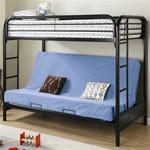 MCB225BB0K-CO BLACK HIGH GLOSS TWIN/ FUTON METAL BUNK BED