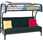 MCB225BB3K-CO BLACK HIGH GLOSS TWIN/ FUTON BUNK BED