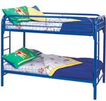 MCB225BB6B-CO BLUE HIGH GLOSS TWIN BUNK BED