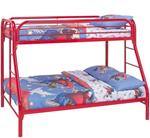 MCB225BB8R-CO RED HIGH GLOSS TWIN/ FULL BUNK BED