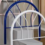 MCB236BR6NTTWHB-CO BLUE TWIN METAL HEADBOARD