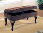 MCLR300BE095-CO DARK BROWN BENCH W/ STORAGE