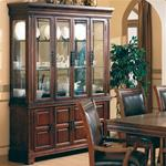 MC363BH8-CO WOOD VENEERS/ SOLIDS CHINA CABINET WITH GLASS DOORS