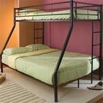 MCB460BB062B-CO BLACK TWIN/FULL BUNKBED