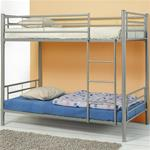 MCB460BB072-CO SILVER CONTEMPORTARY TWIN METAL BUNK BED