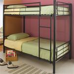 MCB460BB072B-CO BLACK CONTEMPORTARY TWIN METAL BUNKBED