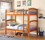 0MCYO460BU173TT-CO TWIN TWIN OAK SPINDLE HARDWOOD BUNK BED SET