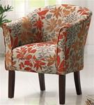 MCLR460AC407-CO AUTUMN LEAVES PATTERN ACCENT CHAIR