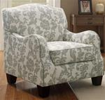 MCLR503AC253-CO FLEUR PATTERN COTTAGE STYLED ACCENT CHAIR