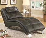MCLR550CL075-CO BLACK CHAISE LOUNGE