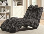 MCLR550CL106-CO BLACK/ WHITE FRENCH SCRIPT CHAISE LOUNGE