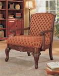 MCLR900AC222-CO CHERRY CHENILLE ACCENT CHAIR