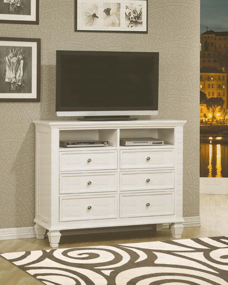 bedroom tv stand dresser. MCB201ME306 CO WHITE SANDS TV DRESSER  McIvan Furniture Outlet