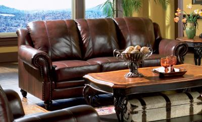 Clearance Living Room Sets on Co 3 Pc Tri Tone Leather Living Room Set   Mcivan Furniture Outlet